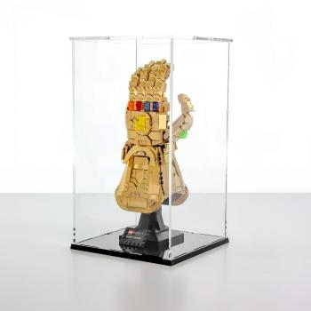 FiguSafe Vitrine für LEGO® Marvel Infinity Handschuh 76191 T/B/H 200x200x350 mm 01026