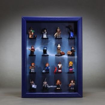 ClickCase Vitrine für LEGO® Serie Harry Potter 2 (71028) mit 16 Figurenhalter KOBALTBLAU