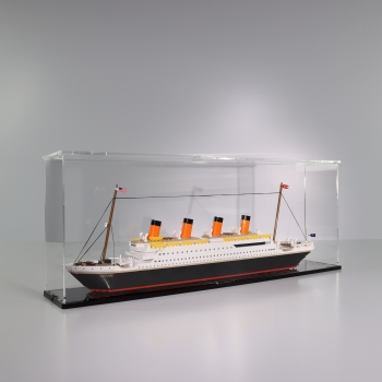 FiguSafe Vitrine für COBI 1914A # RMS TITANIC - T/B/H 120x650x250 mm 01002