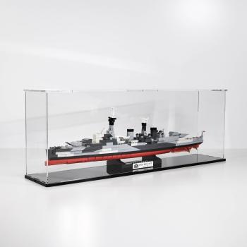 FiguSafe Vitrine für COBI 4821 HMS Belfast Light Cruiser T/B/H 140x700x250 mm 01004