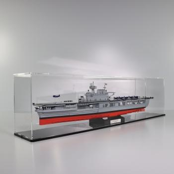 FiguSafe Vitrine für COBI 4815 # USS ENTERPRICE CV-6 - T/B/H 160x980x250 mm 01001