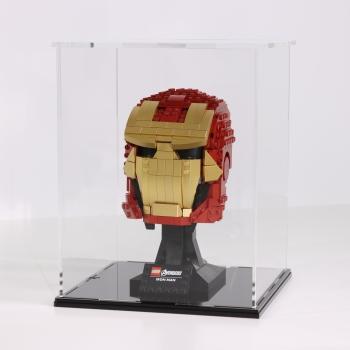 FiguSafe Vitrine für LEGO® Marvel Avengers Iron Mans Helm 76165 T/B/H 200x200x250 mm 01012