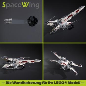 SpaceWing® W1 aus Plexiglas für eure LEGO Modelle Tiefe: 15,0 cm