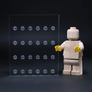 24er Inlay für IKEA Västanhed Rahmen 20 x 25 designed für LEGO® minifiguren Platz für 24 Figuren