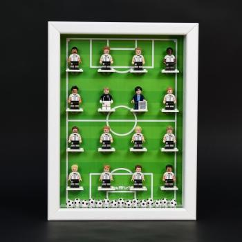 ClickCase Vitrine für LEGO® Serie DFB EM 2016 (71014) GREEN-EDITION mit 16 Figurenhalter WEIß