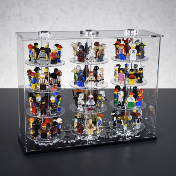 FiguTower® Vitrine für 32 eure LEGO® Figuren Sammelserien