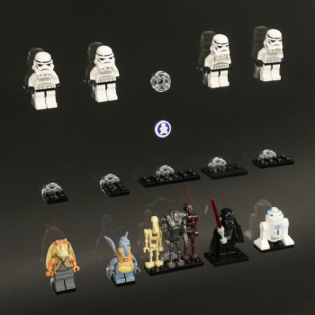 Figuworld24 Figucase Click System Vitrine Für Lego Serie Dfb Em