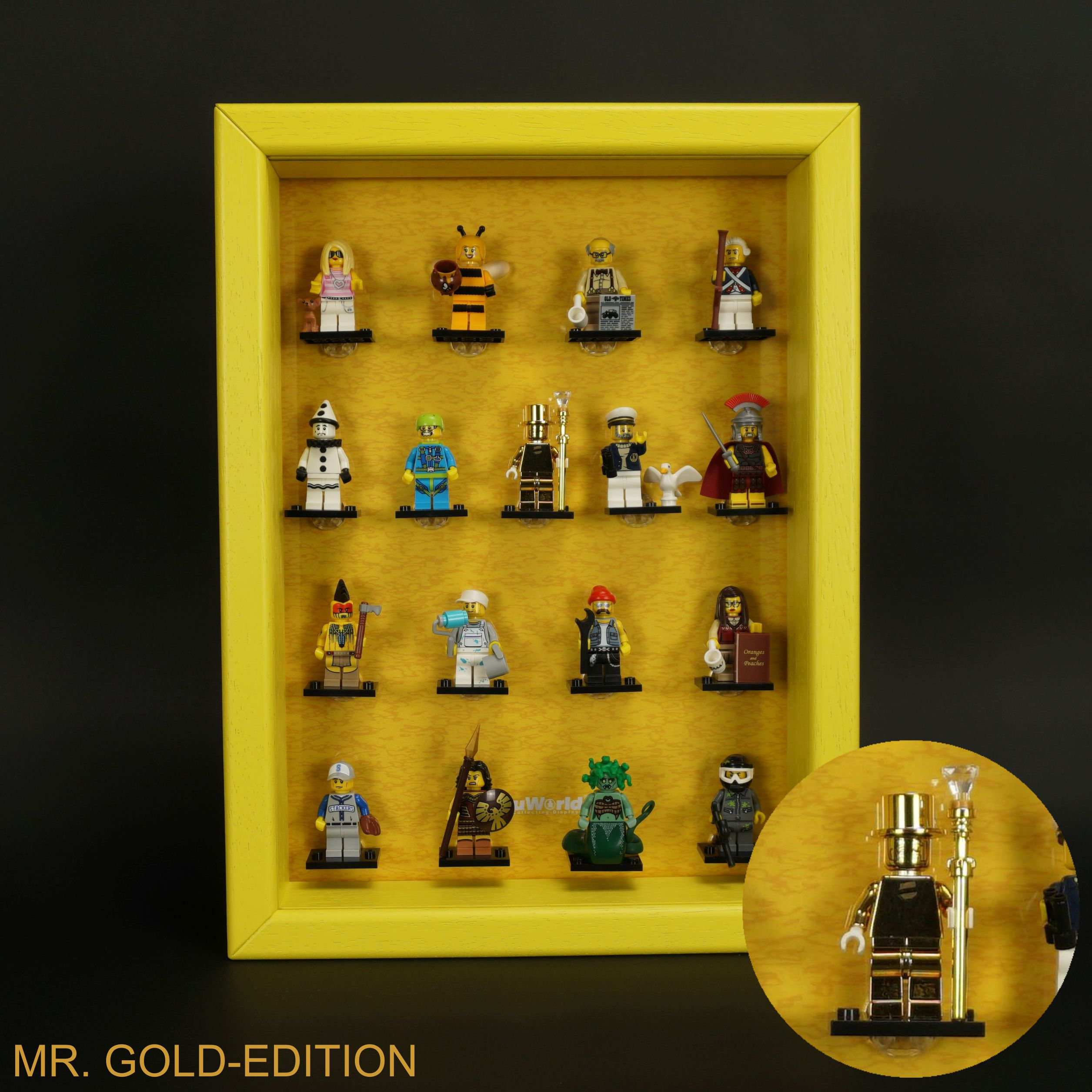 Aluminum Display Case For Lego Figurines Without Return Merchandise & Memorabilia Rocks, Fossils & Minerals